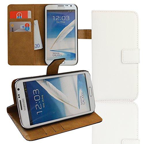 eximmobile Cartera Funda Flip Case Funda para Samsung Galaxy Otros Modelos Weiss Samsung Galaxy Trend Plus