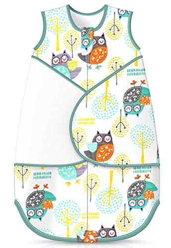 Besrina Baby Sleeping Bag Cotton Breathable Swaddle Wrap Blanket Nursery Wearable Blanket Swaddle for Newborn Infant Toddler Boys Girls, 0.5 Tog (0-12 Months)