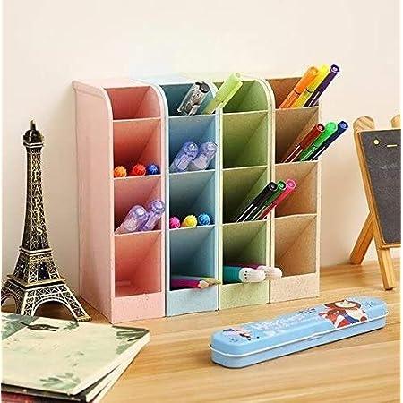 Boîtes de rangement pour bureau, professeur, fournitures scolaires, pinceaux-Organiseur 4couleurs, 16compartiments