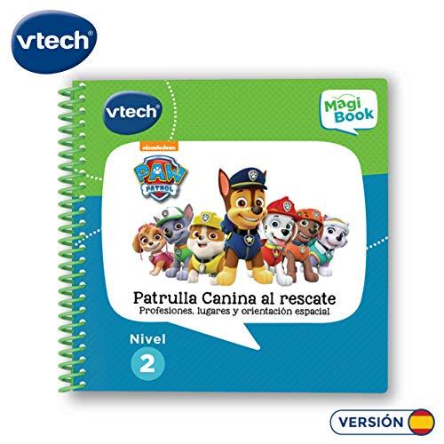 VTech – Libro para Magibook Patrulla Canina, Aprende en casa, Profesiones, lugares y orientación espacial con más de 40 Actividades y cientos de interacciones, Nivel 2, 3-6 años (3480-480222)