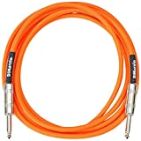 DiMarzio EP1710SSOR - Cable jack para instrumentos, color anaranjado neón