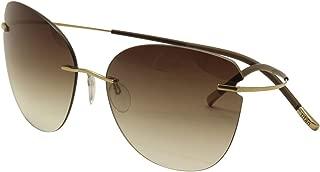 Silhouette Titan Minimal Art The Icon 8156 6236 Gold/Brown Sunglasses 68mm