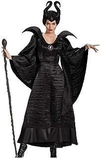DZOUP Traje Negro caído ángel Demonio Demonio Vampiro Bruja de Halloween Traje Adulto Cosplay Uniforme del Juego Hallowe...