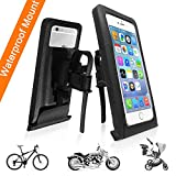 iPhone 6/6S/7/8 Plus Bike Mount, Chanvoo 360 Rotation Bicycle Motorcycle Handlebar Holder Pouch