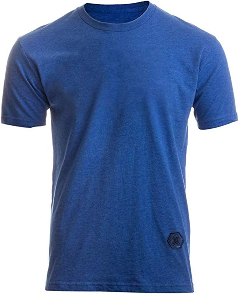 LeaLac Men's Casual Short Sleeve Jersey Slim Fit Plain Pleated Pullover Curved Hem T Shirt