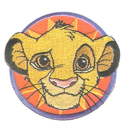 Disney © El rey león Simba cabeza - Parches termoadhesivos bordados aplique para ropa