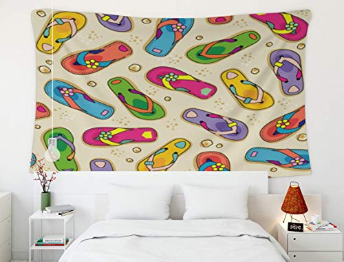 Tapiz del rey Tapiz, vivero Animal encantador, tapiz, tapiz Tapiz de arte de pared para decoración del hogar flip flop patrón de impresión de playa sin costura zapato de verano vector repetir telón de