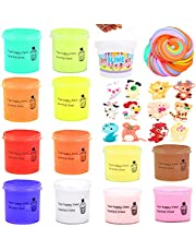 SWZY Fluffy Slime, Putty slime, cloud slime, Putty fluffy, Butter Slime, Children DIY Slime Toy Gift 12 Colors ( animal Slime )-New