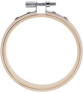 BESPORTBLE Stickrahmen Stickrahmen Bambus Runder Kreuzstich-Ring für Kunsthandwerk Handliches Nähen 8Cm