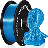 GEEETECH PLA Filamento de seda 1,75 mm, 3D Drucker Filamento PLA 1 kg Carrete (azul cielo)