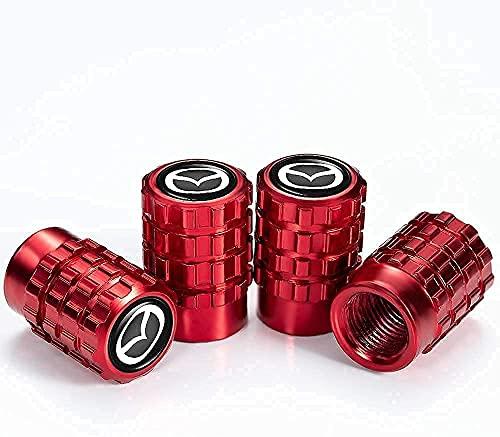 Coche Neumático Tapas Válvulas para Mazda 3 Axela 6 ATENZA MX-5 CX-3 CX-4 CX-5, Antirrobo Antipolvo Resistente Agua Decoración Accesorio