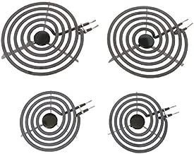 KITCHEN BASICS 101 MP22YA Electric Range Burner Surface Element Replacement for Whirlpool KitchenAid Maytag - Includes 2 8-Inch MP21YA and 2 6-Inch MP15YA Burners, 4 Pack