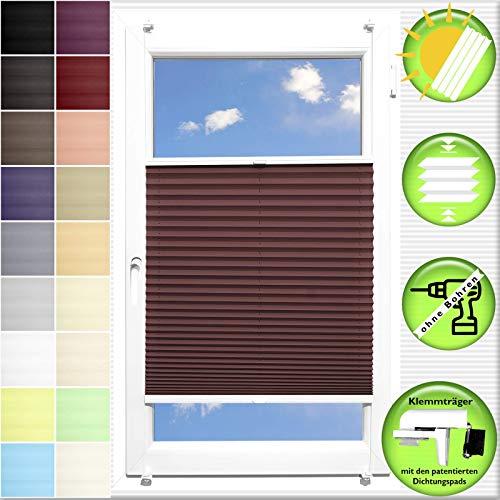 Generisch Pliseerollo Plissee Ohne Bohren plissiert Fensterrollo Klemmfix Faltrollo Jalousie Sonnenschutz Lichtdurchlassig 60x210 cm