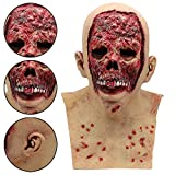 Coedfa Halloween Costume Party Decorations, Halloween Props, Halloween Supplies Halloween Cosplay Bloody Zombie Mask Melting Face Latex Costume Walking Dead Halloween Scary Mask (AS Show)