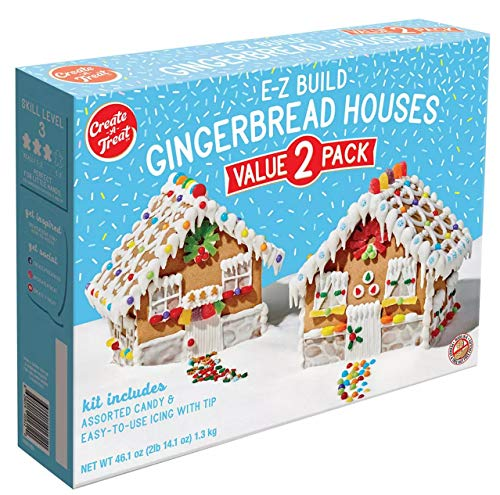 Create-A-Treat E-Z Build Gingerbread Houses, Value 2-Pack, 46.1 ounces