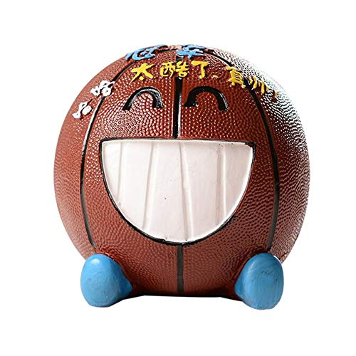 #N/V Hucha de baloncesto de resina de expresión de escritorio de la decoración de dibujos animados Hucha Creativo de los Niños Regalo de cumpleaños Creativo