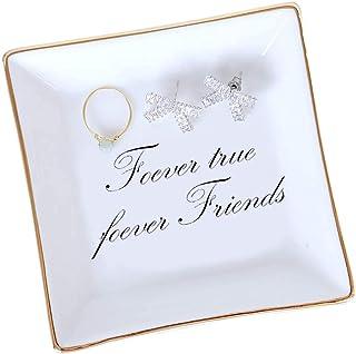 FairyLavie Porte Bague Plat de Bague Porte Bijoux Bracelets Boucles d'Oreille Bibelot Plateau pour Femmes Filles Cadeaux d...