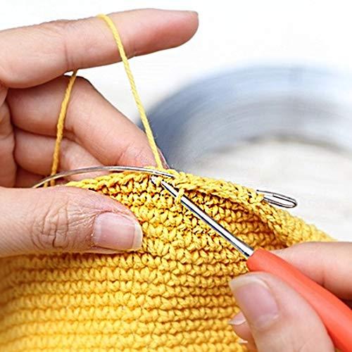 Dennty72点かぎ針セット編み針ニット編み物かぎ針手編み針ジャンボかぎ針レース針手芸編み物DIY工具段数マーカー小物付きケース付き毛糸セーター帽子あみもの用品