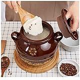 Gangkun Boîtes de saindoux emballées, Pots en céramique à l'ancienne résistant aux Hautes températures pour Usage Domestique-Capacité Eau 2 kg