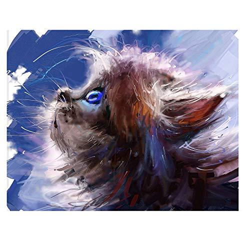 Pintura por números, para adultos y niños, con gato callejero, pintura al óleo sobre lienzo, regalo, kit de pincel, acrílico, alta calidad, lienzo antiarrugas, 40 x 50 cm, sin marco