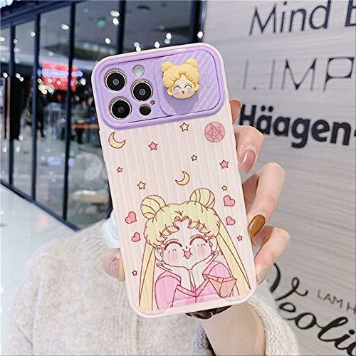 3D-Objektivschutz Sailor Moon Soft Phone Hülle für iPhone 12 11 Pro Mini 7 8 Plus X XS Max XR SE 2020 Rückseite für iPhone 11Pro MAX 2