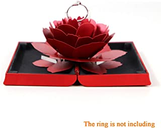 Engagement Ring Box,Ring Rose Box Surprise Jewelry Storage Holder for Woman as Proposal...