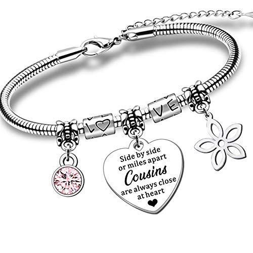 QMVMV Charm Cousin Bracelet Gifts For Women Girls Birthday Christmas Long...