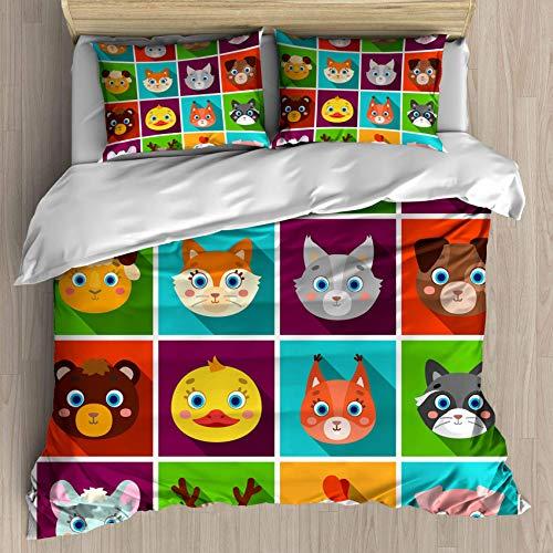 Set copripiumino Gamepad Full Size, Gamepad neon vintage su uno sfondo di fuoco luminoso, Set biancheria da letto decorativo 3 pezzi con 2 federe per cuscino
