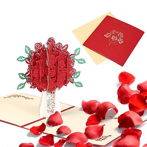 3D Pop Up Karte Blumenstrauß,Geburtstagskarte,Muttertagsgeschenk Ich Liebe Dich Grußkarten Pop-Up Karte Geburtstag für Frauen,Mama,3D Klappkarte Blumen Geburtstagskarten,Muttertagsgeschenke Ideen