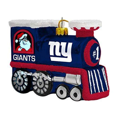 NFL New York Giants Blown Glass Train Ornament
