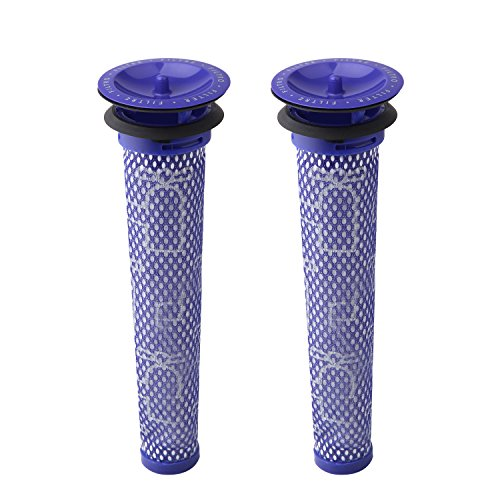 Wolfish 2 Pack Replacement Pre Filters for Dyson DC58, DC59, V6, V7, V8. Replaces Part 965661-01. 2 Filters