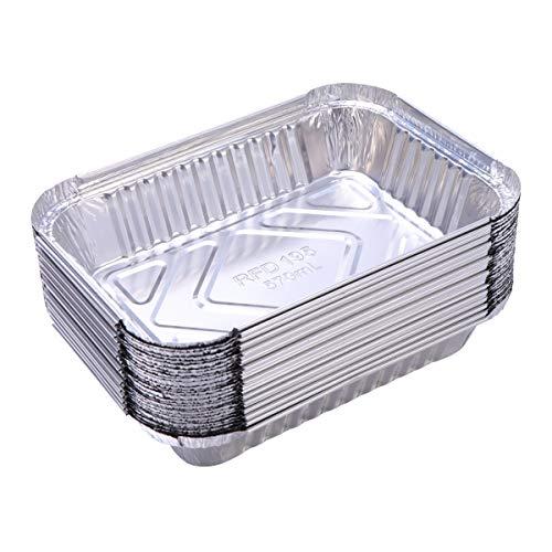 Yardwe 30 STÜCKE Alu Grillschalen Aluminium aluschalen Grill klein alu tropfschalen für Weber Grill Zubehör (570 ml)