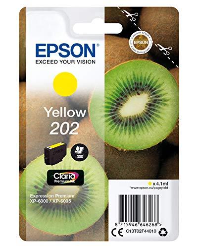 Epson 202 4,1 ml, 300 pagine, giallo, per Epson, Expression Photo XP-6000, XP-6005, 4,1 ml, 300 pagine