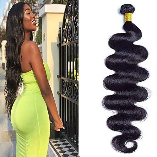 ADOIFAIR Brazilian Long Body Wave Virgin Human Hair 1 Bundle 30 Inch 100% Unprocessed Hair Weave Bundles Extensions Deals 12A Natural Color