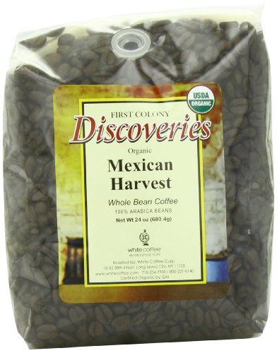 First Colony Organic Whole Bean Coffee, Mexican Harvest, 24-Ounce