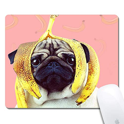 Cute Pug Dog Gaming Office Mouse Pad ZTtrade Durable Customized Non-Slip Rubber Mouse Pad-Rectangle.