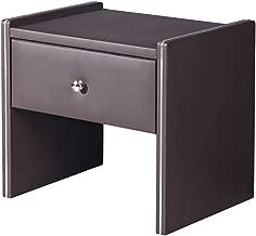 American Eagle Furniture NS002-BR Davis Modern Upholstered 1-Drawer Bedroom Nightstand Brown