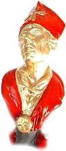 Figura Busto San Gennaro oro 24 cm aprox. Terracota VIP artistas actores de maestros artesanos San Gregorio armenio Belén San G. Armenio un llavero no sheperds Crib