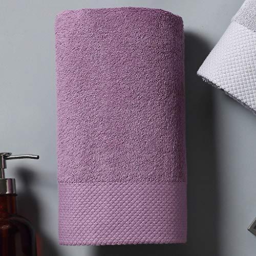 DSJDSFH badhanddoek, vijf sterren, eenvoudig en elegant, satijn platina, 160 x 80 cm