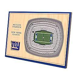 YouTheFan NFL New York Giants Unisex New York GiantsDesktop Stadium View, Wood Grain, Desktop