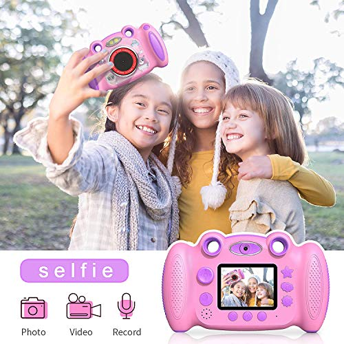 Campark Kids Cameras for Girls Boys Birthday for Age 4-8 Dual Selfie, 2