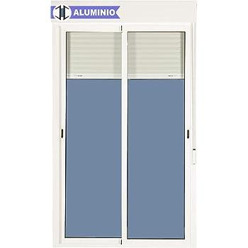 Balconera Aluminio Corredera Con Persiana PVC 1200 ancho × 2185 alto 2 hojas (marco y cajón persiana en kit): Amazon.es: Bricolaje y herramientas