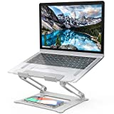 Laptop Stand, [Latest Upgraded 2020] Aluminum Computer Riser Multi-Angle Stand with Heat-Vent Portable Foldable Desktop Adjustable Laptop Stand Compatible with 10 to 17 Inch PC Notebook Tablets…