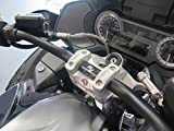 Adattatore manubrio per slitta manubrio regolabile con ABE per BMW R1200RT LC R1250RT Adattatore manubrio argento anodizzato