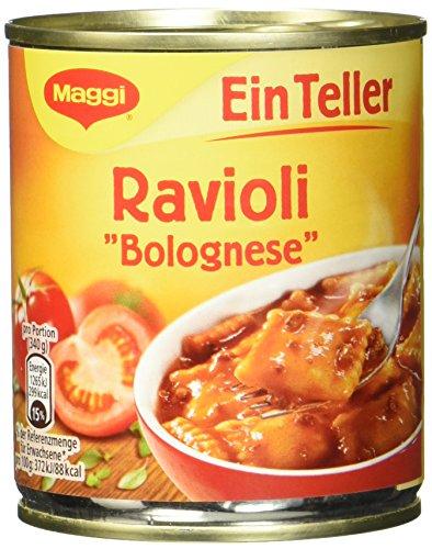 Maggi 1 Teller Ravioli Bolognese, 10er Pack (10 x 340 g)