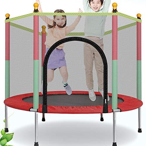 Bambino Children Home trampolino coperto con rete di protezione di salto letto adulto Attrezzature Fitness Exercise letto all'aperto Trampolini
