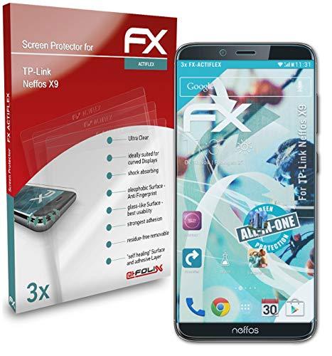 atFolix Schutzfolie kompatibel mit TP-Link Neffos X9 Folie, ultraklare & Flexible FX Bildschirmschutzfolie (3X)
