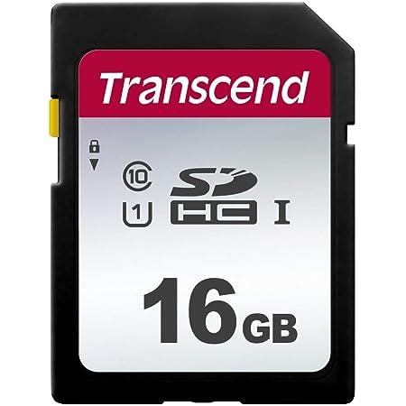 Transcend TS16GSDC300S-E Tarjeta SD de 16 GB, SDHC, Clase 10, U1, Velocidad de Lectura hasta 95 MB/s – Paquete abrefácil