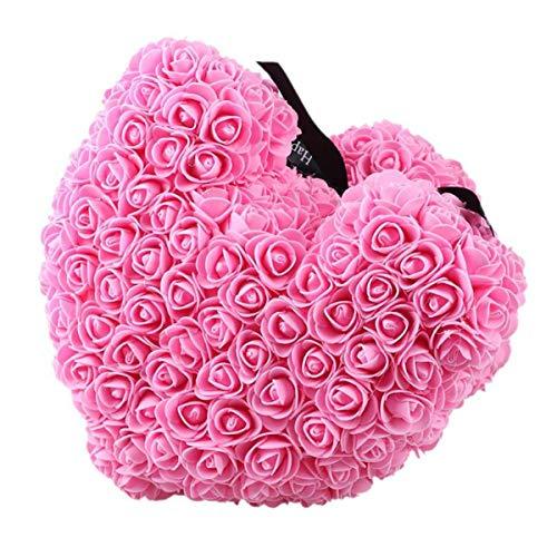 XingYue Direct Rose Bär Spielzeug Blume romantische Puppe Geschenk für Geburtstagsfeier Valentinstag Hochzeit (Color : Princess Pink)