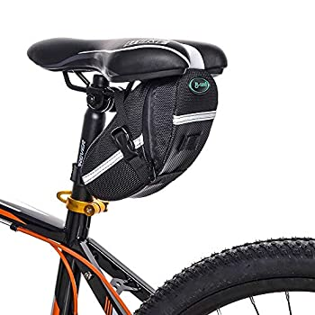 JASLITE Bicycle Saddle Bag Bike Bag Under Seat Pouch Wedge Packs with Reflective Stripes,Bike Seat Pack Bag Cycling for Foldable Road Mountain Bike,Waterresistant